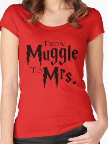 From Muggle To Mrs. Women's Fitted Scoop T-Shirt