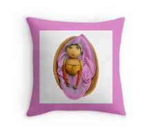 The Veggies - Babes in the Food (Pink for a Girl) Throw Pillow