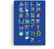 A-Z of Indie Games Canvas Print