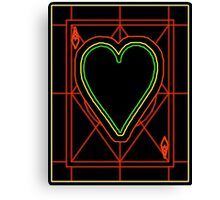 Neon Ace of Hearts Canvas Print
