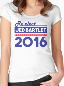 Re-Elect Jed Bartlet 2016 Bold  Women's Fitted Scoop T-Shirt