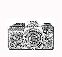 Capture Life - Hand Doodled Camera by DanaElyse