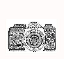 Capture Life - Hand Doodled Camera by DanaElyse