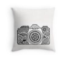 Capture Life - Hand Doodled Camera Throw Pillow
