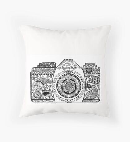Capture Life - Hand Doodled Camera Throw Pillow