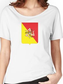 Coat of arms of Sicily Women's Relaxed Fit T-Shirt