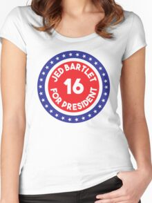 Jed Bartlet 2016 Ring Women's Fitted Scoop T-Shirt