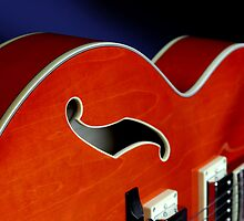 Ibanez AF75D Hollowbody Guitar In Transparent Orange Detail by koping