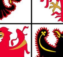 Coat of Arms of Trentino-Alto Adige Sudtirol Region of Italy Sticker