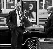 The Chauffeur, the Merc and the Olympus OM-D girl by Cecily  Graham