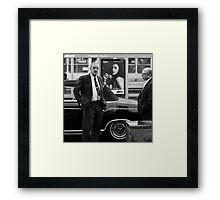 The Chauffeur, the Merc and the Olympus OM-D girl Framed Print