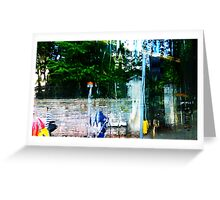 The Wall in the Rain Greeting Card
