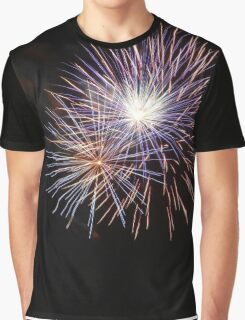 Rainbow Fireworks Graphic T-Shirt