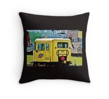 The Speeder and the Mural Throw Pillow Throw Pillow