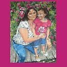 Mother and Daughter- Las Brissas (Pillow) by Jennifer Ingram