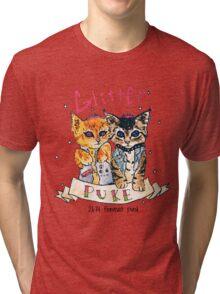 Glitter puke  Tri-blend T-Shirt