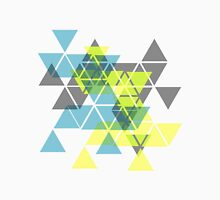 Abstract geometric triangles pattern (yellow, gray, green) Unisex T-Shirt