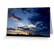 Wyoming Sunset in Southwest Wyoming  Greeting Card