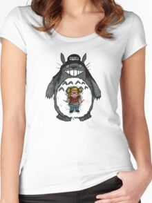 Totoro's World Women's Fitted Scoop T-Shirt