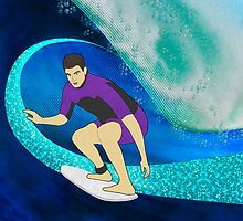 Surfer  by Janet Carlson