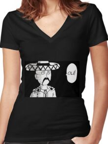 OLE Women's Fitted V-Neck T-Shirt