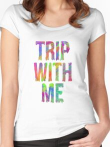 TRIP WITH ME Women's Fitted Scoop T-Shirt