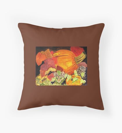 I'm Hiding in the Pumpkin Patch Throw Pillow
