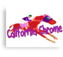 Fun California Chrome Design Canvas Print