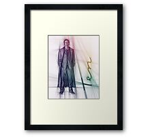 The Tenth Doctor Doctor Who Colorful Sketch Framed Print
