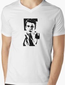 James Dean Mens V-Neck T-Shirt
