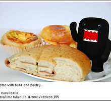 Domo with buns and pastry by nurulazila