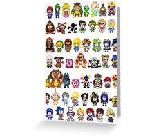 Super Smash Bros Wii U - Pixel Art Characters Greeting Card