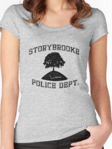 Storybrooke Police (dark/alt.) Women's Fitted Scoop T-Shirt