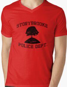 Storybrooke Police (dark/alt.) Mens V-Neck T-Shirt