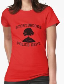 Storybrooke Police (dark/alt.) Womens Fitted T-Shirt