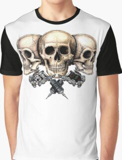 Skull and tattoo machines Graphic T-Shirt