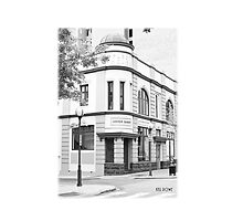 Perth Fleet House black and white photo cushion. by Kell Rowe