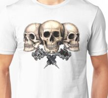 Skull and tattoo machines Unisex T-Shirt