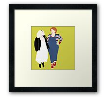 Plus Size Halloween - Chucky and Tiffany Framed Print