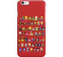 Super Smash Bros Wii U - Pixel Art Characters iPhone Case/Skin