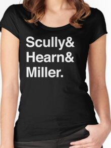 Scully and Hearn and Miller - Dark Version Women's Fitted Scoop T-Shirt