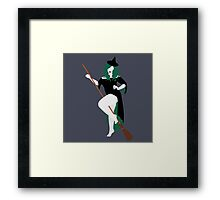 Plus Size Halloween - Witch Framed Print