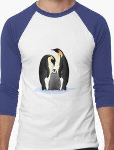 Emperor Penguins Nesting Men's Baseball ¾ T-Shirt