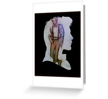 The Eleventh Doctor Silhouette with pencil sketch Greeting Card