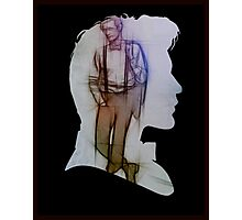 The Eleventh Doctor Silhouette with pencil sketch Photographic Print