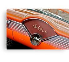 1956 Chevy Bel Air Dash Metal Print