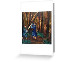 Robe Fight Greeting Card