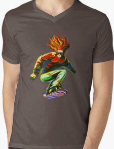 BOARDER Mens V-Neck T-Shirt