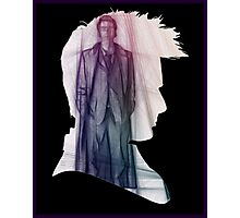 The Tenth Doctor Silhouette with Colorful Sketch Photographic Print