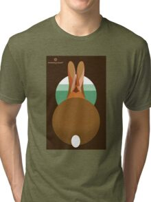 rabbit in a burrow  Tri-blend T-Shirt